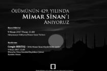 Ölümünün 429. Yılında Mimar Sinan'ı Anıyoruz