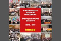 'TMMOB 16 Nisan Referandum Çalışmaları Bilgi Notu' Yayımlandı
