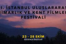 XI. İstanbul Uluslararası Mimarlık ve Kent Filmleri Festivali Başlıyor!