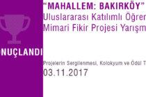 """""""Mahallem: Bakırköy"""" Yarışması Sonuçlandı"""