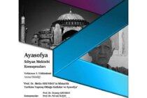 'Prof. Dr. Metin AHUNBAY'ın Mimarlık Tarihine Yapmış Olduğu Katkılar ve Ayasofya'