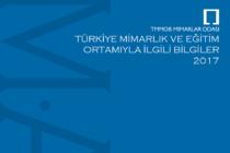 Yeni Yayın: Türkiye Mimarlık ve Eğitim Ortamıyla İlgili Bilgiler 2017