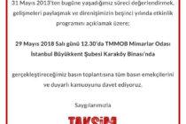 Taksim Dayanışması'ndan Basın Toplantısına Çağrı