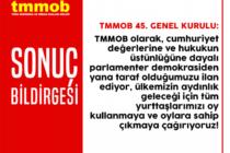 TMMOB 45. Olağan Genel Kurulu Sonuç Bildirgesi