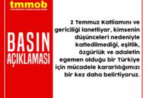 TMMOB: Sivas'ı Unutmadık, Unutturmayacağız