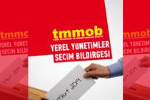 TMMOB Yerel Yönetimler Seçim Bildirgesi