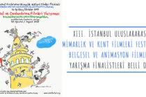 XIII. İstanbul Uluslararası Mimarlık ve Kent Filmleri Festivali Belgesel ve Animasyon Filmleri Yarışma Finalistleri Belli Oldu
