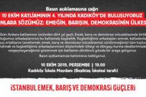 10 Ekim Katliamı'nın 4. Yılında Kadıköy'deyiz