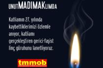 27. Yılında Sivas Katliamını Unutmadık
